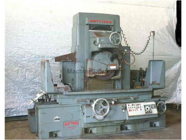 "12"" X 36"" MATTISON HORIZONTAL SURFACE GRINDER: STOCK #19974"