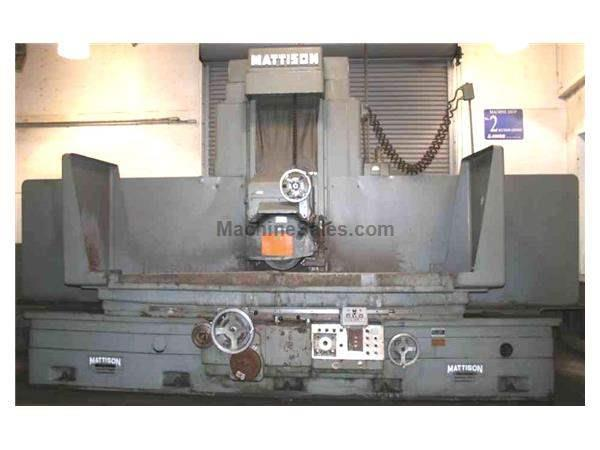 "30"" X 72"" MATTISON HYDRAULIC SURFACE GRINDER: STOCK #50518"