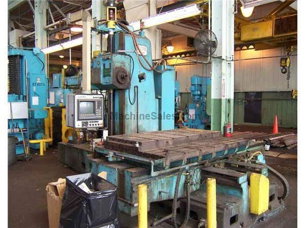"4"" LUCAS MILL MDL #42B60 CNC HORIZONTAL BORING MILL: STOCK #50880"