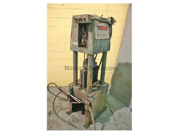 "50 TON 6"" X 6"" X 1/2"" WHITNEY HYDRAULIC PRESS: STOCK #52610"