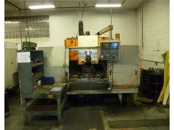 HAMAI MODEL #3VA TWIN SPINDLE VERTICAL MACHINING CENTER: STOCK 58207