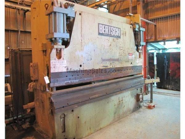 230 TON BERTSCH HYDRAULIC PRESS BRAKE: STOCK #58490