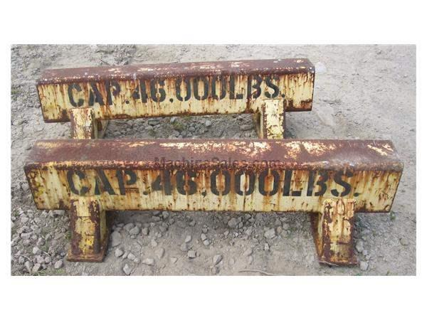 (2) 46,000 LBS STEEL SAW HORSES:  STOCK #58640