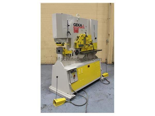 100 TON GEKA HYDRACROP 100A IRONWORKER: STOCK # 58956