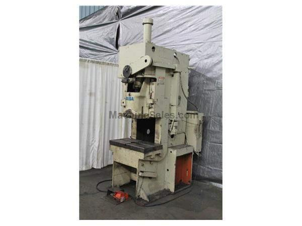55 TON AIDA MODEL #PC-5(2) SINGLE CRANK GAP FRAME PRESS: STOCK 59295