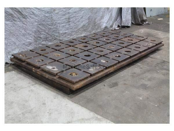 "120"" X 57"" X 4"" CAST IRON CROSS T-SLOTTED PLATE: STOCK #59444"