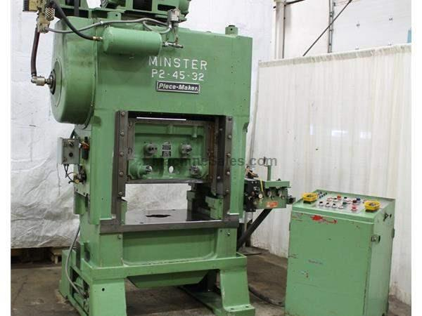 45 TON MINSTER P2-45-32 HIGH SPEED PRESS: STOCK #61606