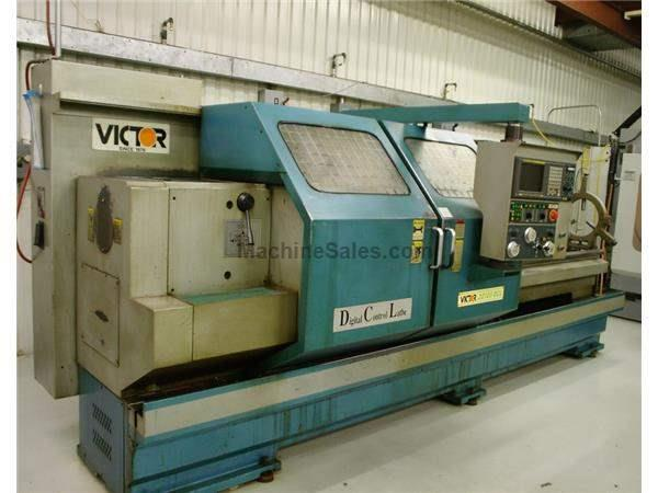 "22"" X 120"" VICTOR MODEL #DCL FLAT BED CNC LATHE: STOCK #61867"