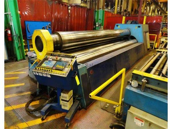 "18' X 7/8"" HELLER 4 ROLL CNC PLATE BENDING ROLL NEW 2003: STOCK # 61938"
