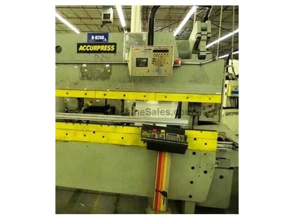 60 TON X 8' ACCUPRESS 2- AXIS HYDRAULIC PRESS BRAKE: STOCK #62296