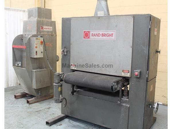 "36"" RAND BRIGHT MODEL #S36 X 75 BELT GRINDER & DUST COLLECTOR: STOCK # 62629"