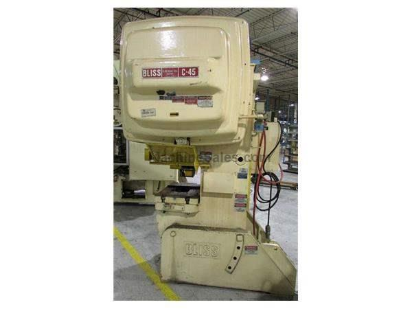 45 TON BLISS OBI PRESS, S/N H70622: STOCK # 62720