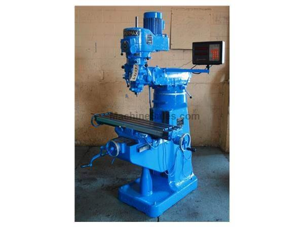 2 HP SUPERMAX RAM TYPE VERTICAL MILL: STOCK #62729