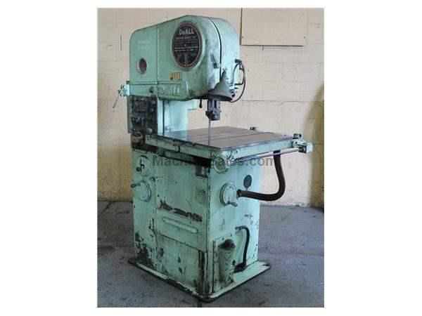 "16""  DOALL CONTOURMATIC VERTICAL BAND SAW: STOCK #62793"