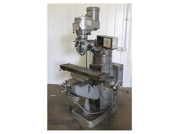 1-1/2 HP BRIDGEPORT VERTICAL RAM TYPE MILL: STOCK #62870