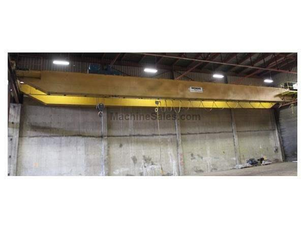 20 TON X 100' DEMAG DOUBLE GIRDER TOP RUNNING BRIDGE CRANE: #62961