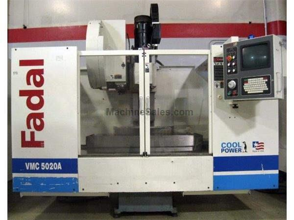FADAL 5020A, 2001, 22.5 HP, RIGID TAPPING, HIGH TORQUE, 7,500 RPM Wheeler Machinery