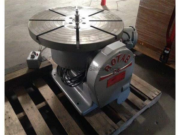 "24"" ROTAB MODEL 24, TILTING, T-SLOTTED, POWERED 1/3 HP, 12"" 3-JAW CHUCK Wheeler"