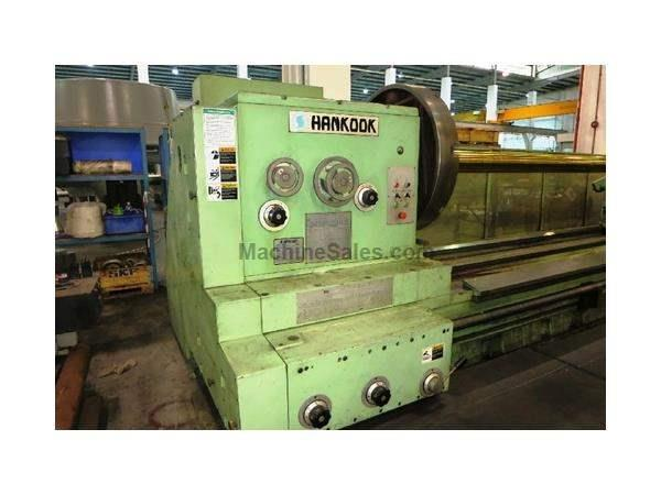 "59""X 33' HANKOOK MDL KMIII X 1500 X 10,000 HEAVY DUTY ENGINE LATHE"