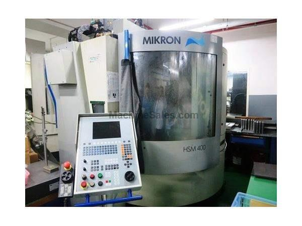MIKRON MODEL HSM-400 3-AXIS HIGH SPEED VERTICAL MACHINING CENTER