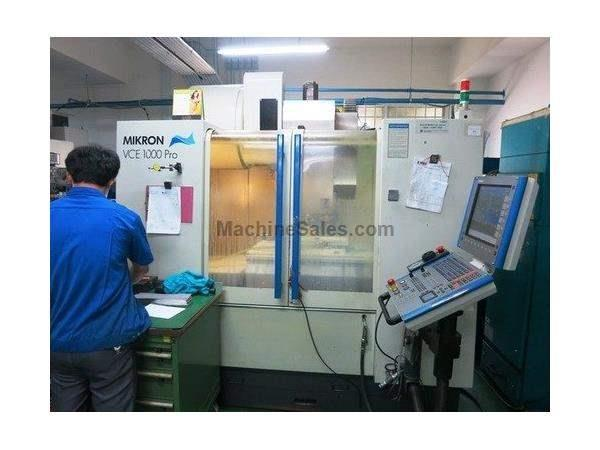 MIKRON VCE 1000 PRO 3-AXIS PRECISION VERTICAL MACHINING CENTER