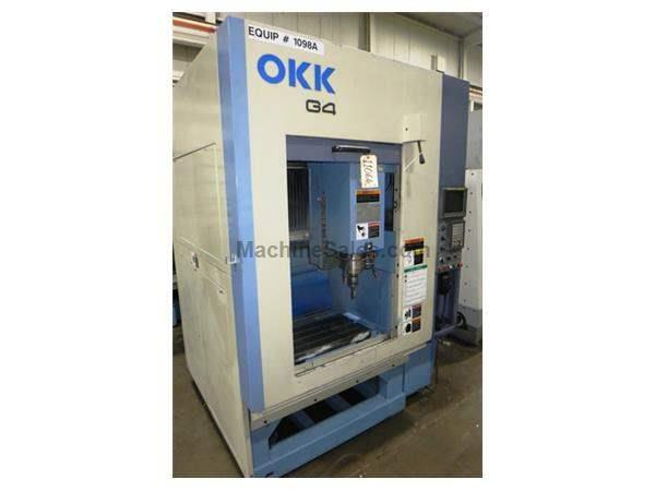 OKK MODEL G4 HIGH SPEED 3-AXIS GRAPHITE VERTICAL MACHINING CENTER