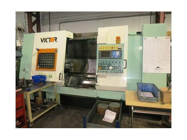 "21.65""X 42.1"" VICTOR (FORTUNE) MDL VTURN-36 2-AXIS CNC TURNING CE"