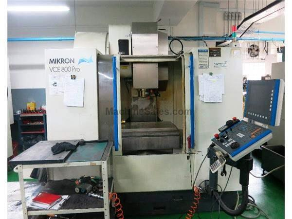 MIKRON VCE 800 PRO 3-AXIS CNC PRECISION VERTICAL MACHINING CENTER