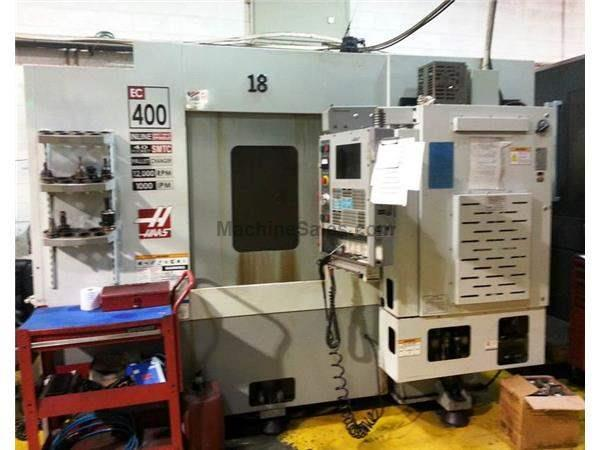 HAAS EC-400 4-AXIS PRECISION HORIZONTAL MACHINING CENTER