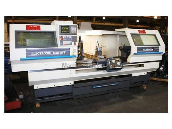 "21"" Swing 80"" Centers Colchester ELECTRONIC MASTIFF CNC LATHE, Fanuc 20-T CNC, 4&3-Jaw , (2) Ssteady Rests,Follow"