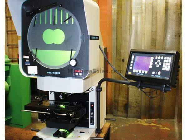 "14"" Screen Deltronics DV-114-MPC-200-E OPTICAL COMPARATOR, BENCH MODEL, VERT. PROJ., DRO w/PROG. FUNCT. & EDG"