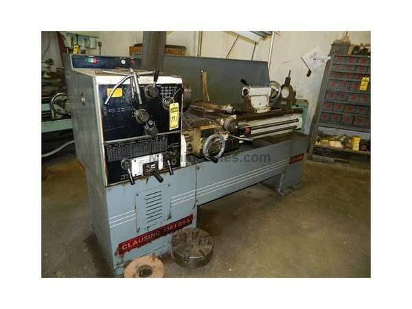 "15"" Swing 45.5"" Centers Clausing-Metosa C1545SS ENGINE LATHE, Inch/Metric,Gap,3&"