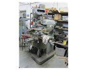 """42"""" Table 1HP Spindle Bridgeport J HEAD VERTICAL MILL, Chrome Ways, Step-Pulley, R-8"""