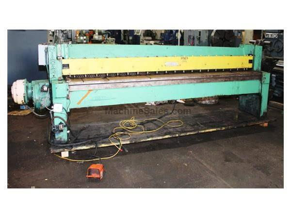 "14Ga Cap. 120"" Width Niagara 410B SHEAR, Rear Operated Manual Back Gauge"