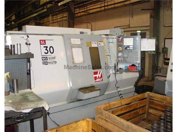 "30"" Swing Haas SL-30BB CNC LATHE, Haas CNC, Toolsetter, 15""chk., Chip Auger"