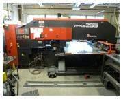 22 TON AMADA VIPROS 255 HYDRAULIC CNC TURRET PUNCH PRESS W/ FANUC 18P CNC