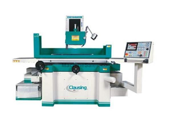 "8"" Width 18"" Length Clausing CSG818A SDIIl SURFACE GRINDER, vertical feed powered by dual motors"