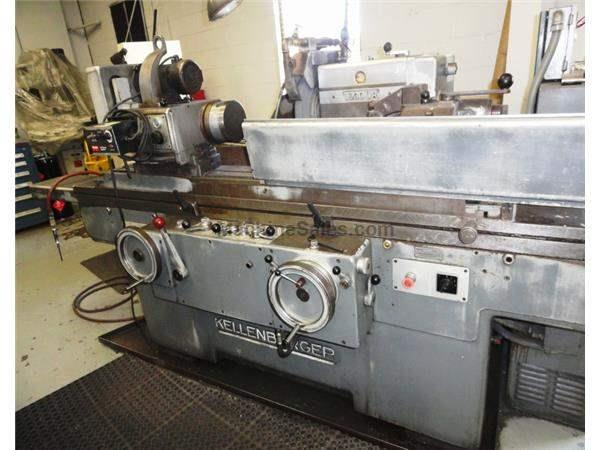 "13.8"" Swing 40"" Centers Kellenberger 1000UR OD GRINDER, SWING AROUND I.D., HYD. TABLE, AUTO INFEED, PLUNGE"