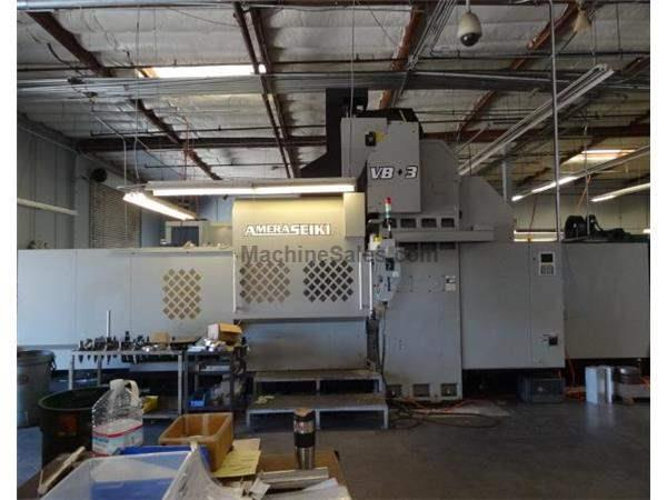 "126"" X Axis 79"" Y Axis Amera-Seiki VB-3 VERTICAL MACHINING CENTER, Fanuc Control,300 psi TSC, 6,000rpm 32 ATC"
