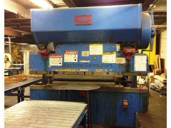 "75 Ton 96"" Bed Chicago 68C PRESS BRAKE, Rear Operated Manual Back Gauge"