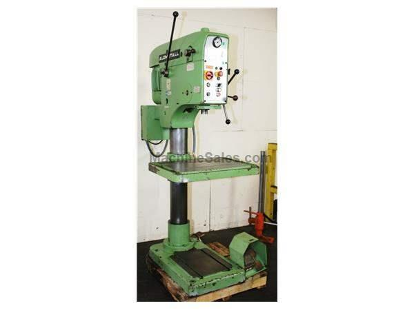 "27"" Swing 4.6HP Spindle Alzmetal AV4SV DRILL PRESS, Vari-Speed, Power Down Feed, T-Slotted Tbl & Base,"