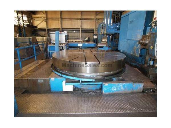 "Noble & Lund 120"" CNC Rotary Table with CNC W Axis Slide, 40 Tons"