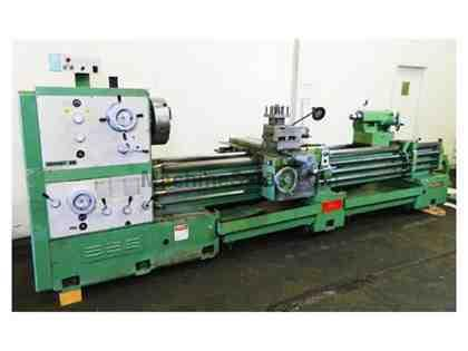 "26"" Swing 120"" Centers Summit 26-4 ENGINE LATHE, Inch/Metric, Taper, 4"" Hole, 3-Jaw Steady Rests"
