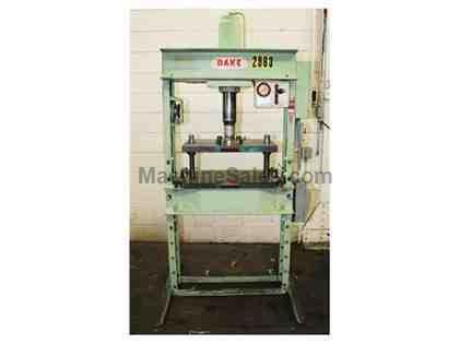 "50 Ton 10"" Stroke Dake 8-052 H-FRAME HYDRAULIC PRESS, Electric Over Hydraulic"