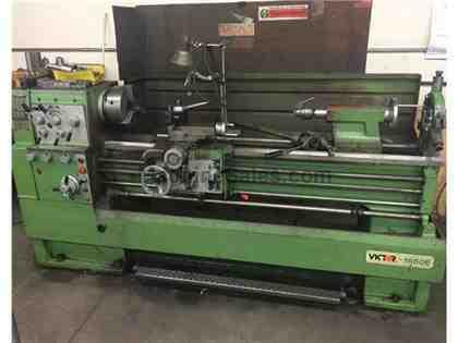 "16"" Swing 60"" Centers Victor 1660E ENGINE LATHE, Inch/Metric, 3-Jaw,3-Jaw,5C Collet,Steady,7.5HP,A"