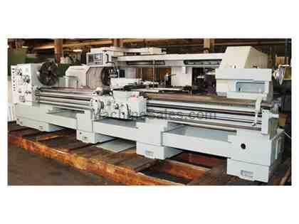 "24"" Swing 160"" Centers Lansing 24GS ENGINE LATHE, Inch/Metric, Gap, 4"" Hole, 3-Jaw, 20 HP, Rapid,"