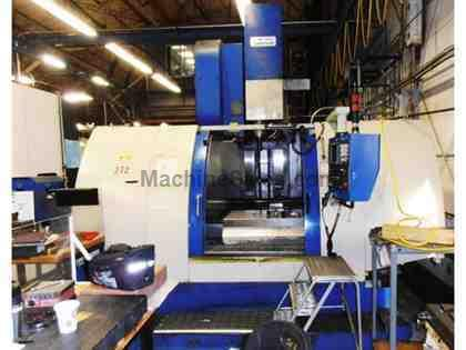 "51.2"" X Axis 33.5"" Y Axis Johnford VMC-1300HD VERTICAL MACHINING CENTER, Fanuc 18M Control, 6,000RPM 24 ATC, 4th Axis Table"