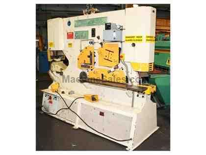"165 Ton 20"" Throat Geka HYDRACROP - 150-S IRONWORKER, Complete with Cabinet of Tooling"