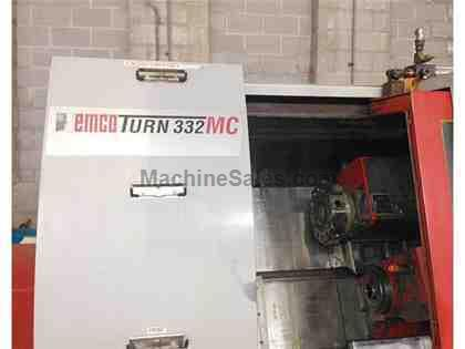 EMCO 332MC TWIN SPINDLE TWIN TURRET TURNING CENTER with LIVE TOOLING