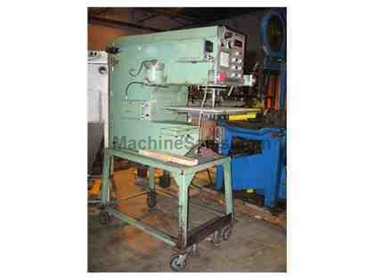 Pem-Serter Press, Series 120, On Roller Table, SN: 120A8-005